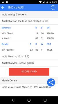 Live Cricket Scores screenshot 4