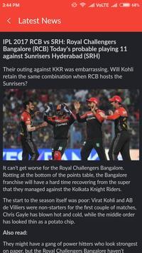 Live Cricket Scores & News apk screenshot