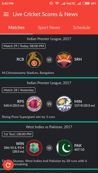 Live Cricket Scores & News poster