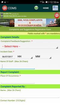 COMS - for RAIL SAARTHI screenshot 1