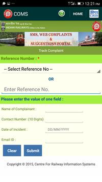 COMS - for RAIL SAARTHI screenshot 2