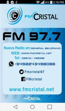RADIO CRISTAL FM 97.7 MHz poster