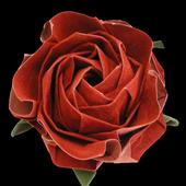 Como hacer Rosas de Origami icon