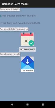 Calendar Event Mailer Free screenshot 1