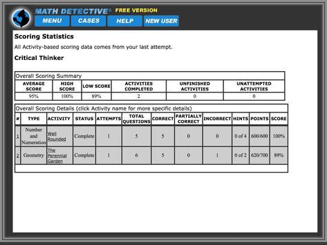 Math Detective® A1 (Free) screenshot 4