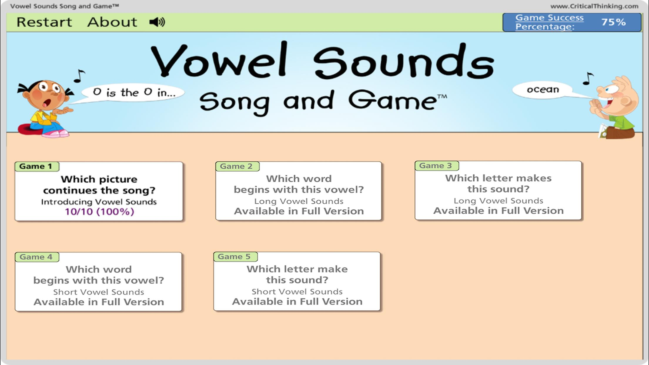 Vowel Sounds Song and Game™ (Lite) for Android - APK Download