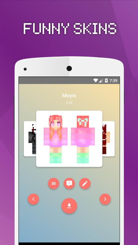 Girls Skins For Minecraft PE APK Download Free Tools APP For - Skins para minecraft pe 0 15 6