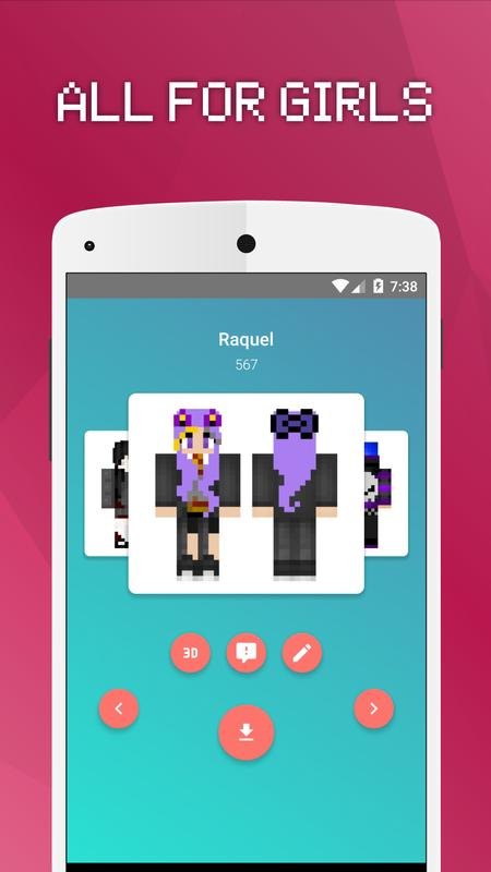 Girls Skins For Minecraft PE APK Download Free Tools APP For - Skins para minecraft pe para download