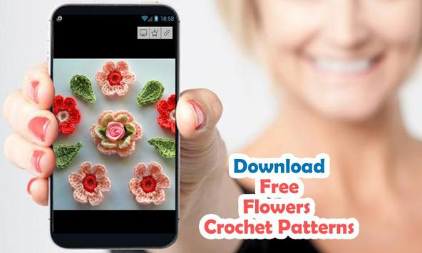 Crochet Flowers with patterns poster