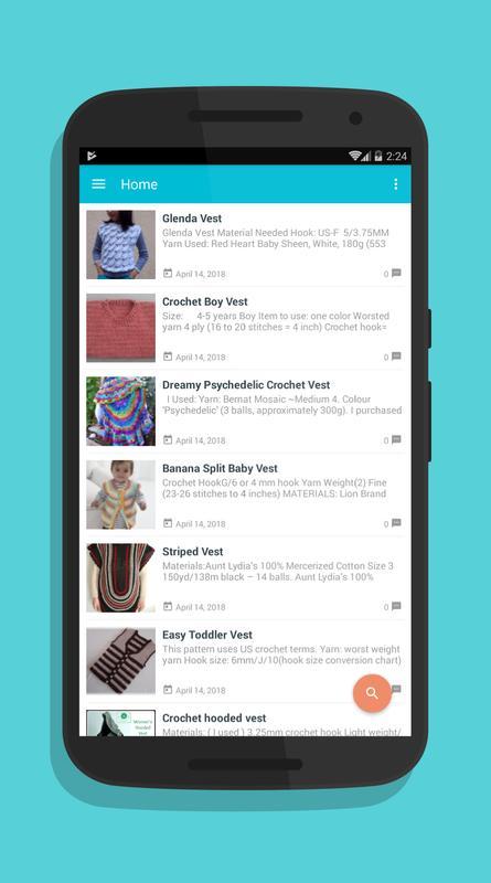 Patrones de chaleco de ganchillo for Android - APK Download