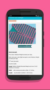Crochet Vest Patterns screenshot 14