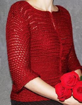 crochet women cardigan apk screenshot