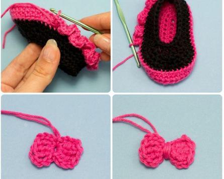 Crochet Baby Booties Designs poster