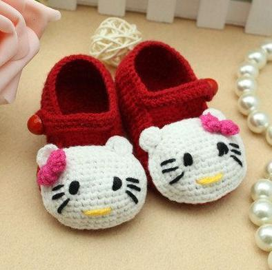 crochet baby shoes poster