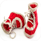 crochet kid boots icon