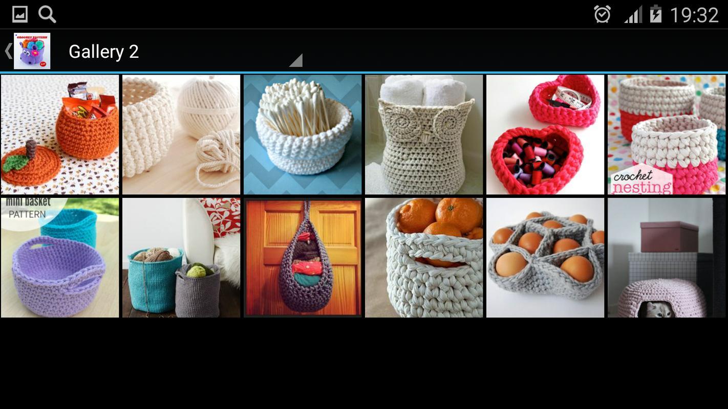 Crochet Patrón De Cesta Descarga APK - Gratis Estilo de vida ...