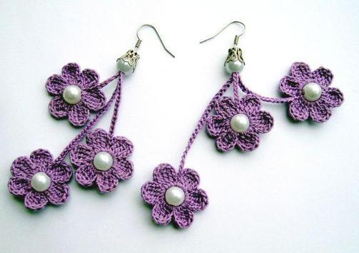 crochet pattern jewelry poster