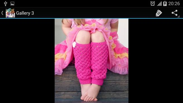 Crochet Pattern Leg Warmers apk screenshot