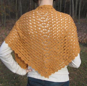 crochet shawl designs poster