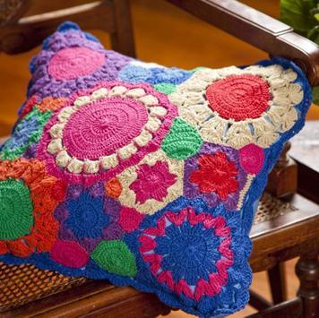 Crochet Pillow Ideas poster