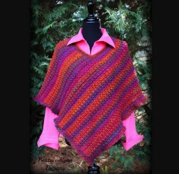 crochet poncho patterns apk screenshot
