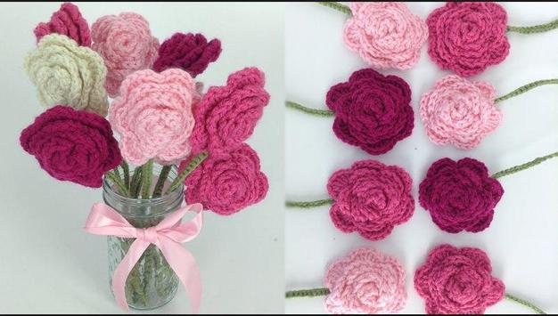 crochet rose ideas screenshot 4