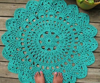 crochet rug models poster