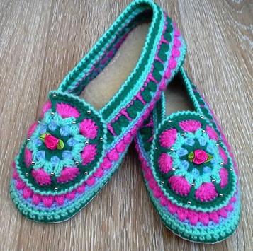 Crochet Slippers For Women screenshot 5