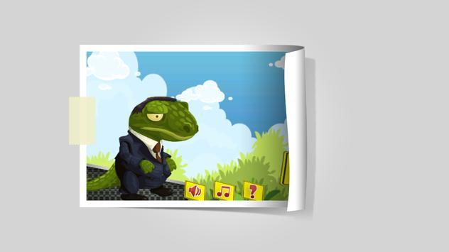 Crocodile Business Man poster
