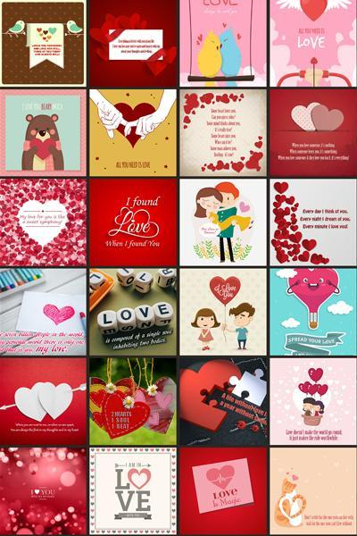 Love Greeting Cards Gallery poster
