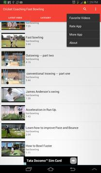 Cricket Coaching Fast Bowling apk screenshot