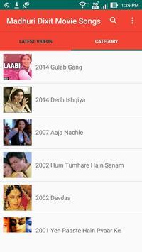 Madhuri Dixit Movie Songs apk screenshot