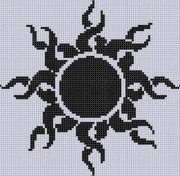 cross stitch patterns poster
