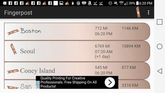 Fingerpost Directional Sign apk screenshot
