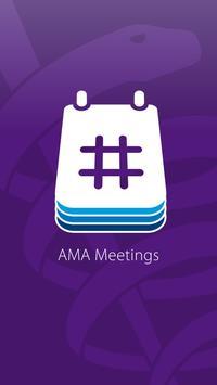 AMA Meetings poster