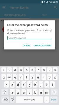 Kumon Events apk screenshot