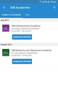 ISM Academies poster