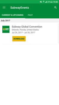 Subway® Events poster