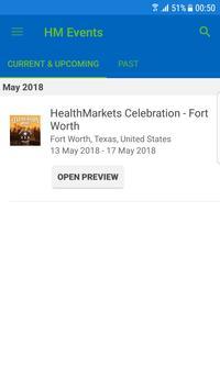 HealthMarkets Events apk screenshot