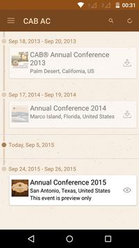 CAB Annual Conference apk screenshot
