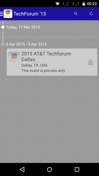 2015 TechForum – Attendees poster