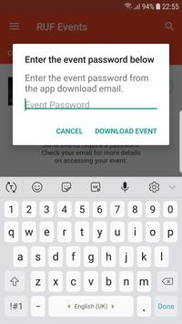 RUF Events apk screenshot