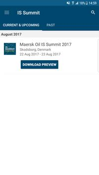Maersk Oil IS Summit 2017 poster
