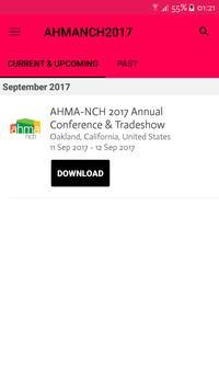 AHMA 2017 Conference App poster