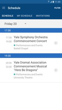 Yale Events apk screenshot