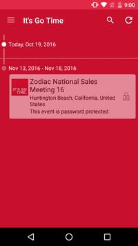 Zodiac National Sales Meeting poster