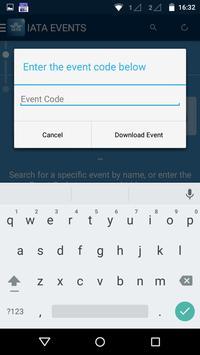 IATA EVENTS apk screenshot