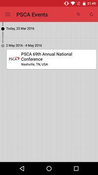 PSCA Events apk screenshot