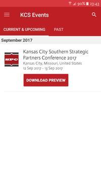 Kansas City Southern Events poster