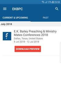 EK Bailey Preaching Conference apk screenshot